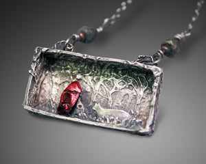 Little Red Riding Hood Shadow Box Necklace - Ashley Lozano Jewelry