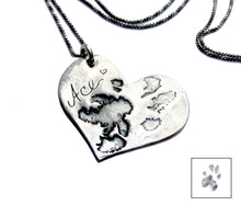 Custom Nose or Paw Print Necklace In Silver - Ashley Lozano Jewelry