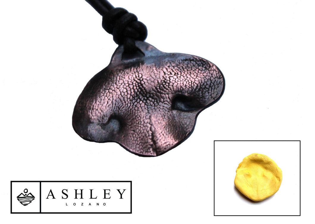 Dog Nose Print Necklace - Ashley Lozano Jewelry