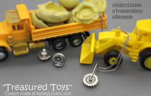 Boymom Custom Spinning Silver Necklace Made From Your Child's Favorite Toys - Ashley Lozano Jewelry