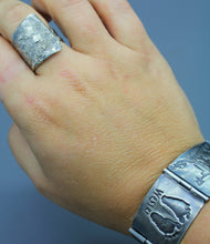 Silver Reticulation Wrap Ring - Ashley Lozano Jewelry