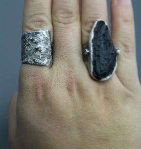 Silver Reticulation Wrap Ring, Ready to Ship - Ashley Lozano Jewelry