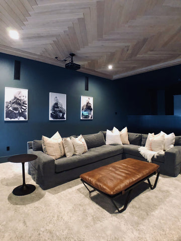Cool, Cozy Basement // Des Moines Area Project