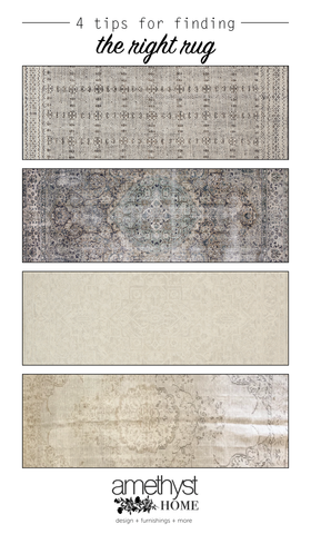Add the Finishing Touch to Any Space with the Right Rug // 4 Characteristics to Look For