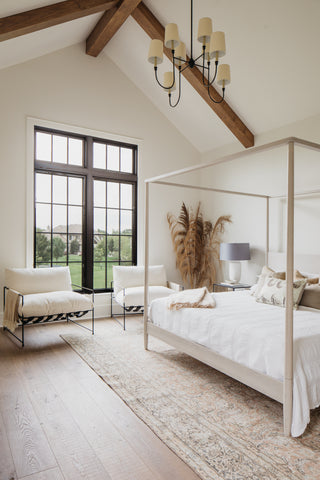 Luxe Prairie Master Bedroom