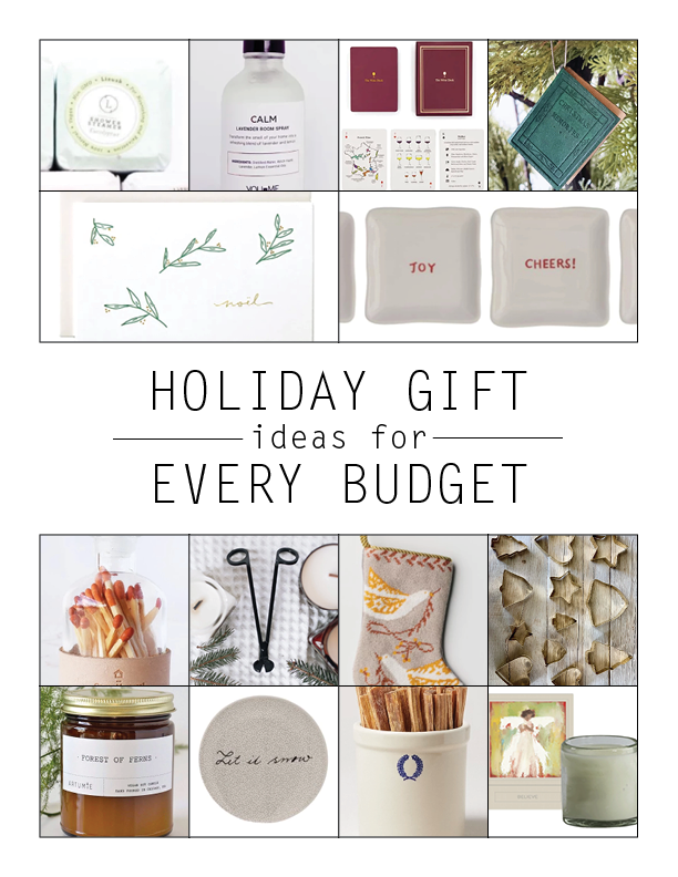 Gift ideas for every budget!