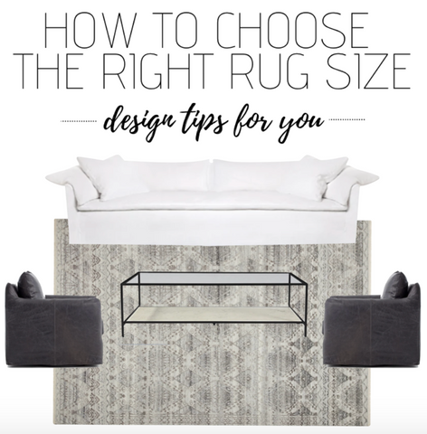 How to Choose the Right Rug Size // Design Tips For You