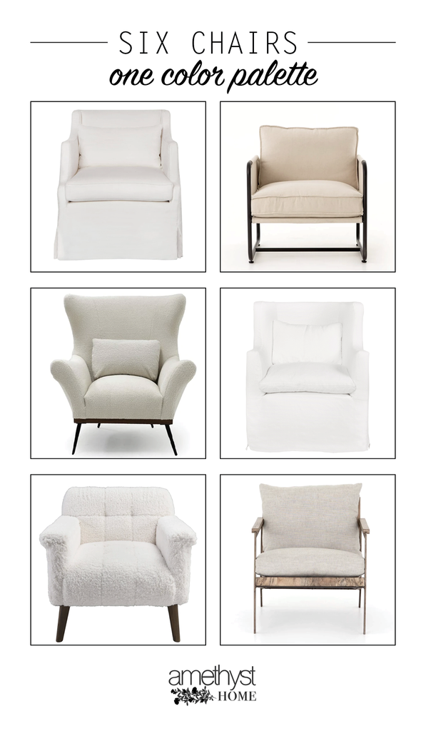 We love helping our wonderful clients design their homes, and often it all comes down to the chairs! There are so many seating options out there, so we try to spotlight the lines, comfort, and style of each chair we select - leaving color/fabric/leather s