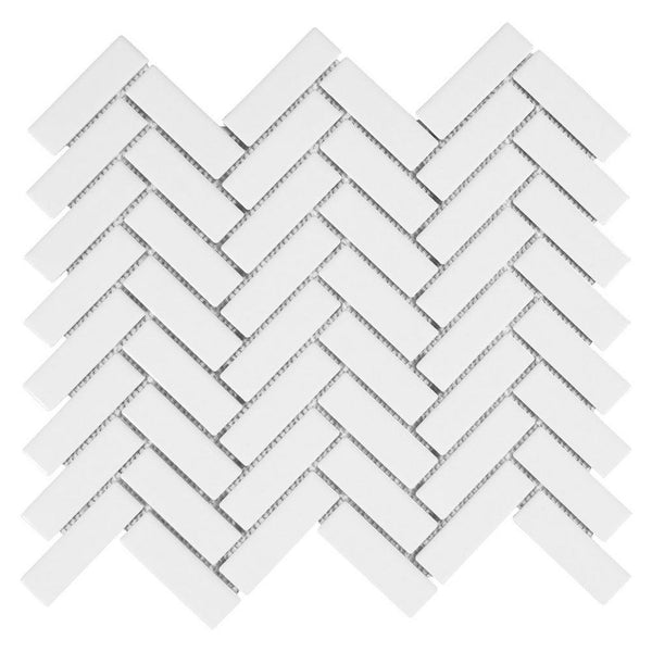 mini subway tile herringbone white ceramic kitchen backsplash bathroom
