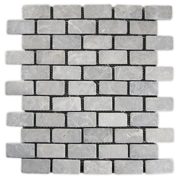 mini subway tile natural grey stone modern concrete kitchen bathroom new construction