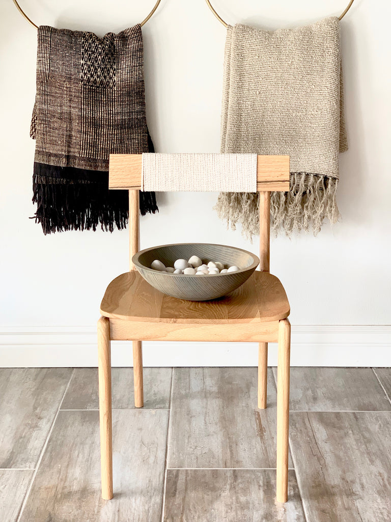 Cozy blankets are another key Fall element to remember! These Round Hoop Hangers are functional pieces of art, providing a unique way to display your throws.