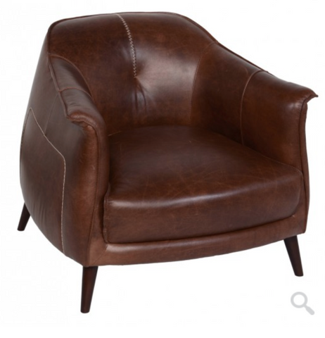 leather club chair bohemian classic home omaha nebraska stitching