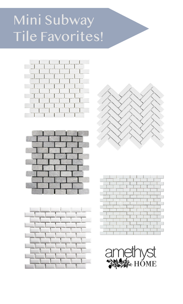 mini subway tile mosaic kitchens bathrooms 1x2