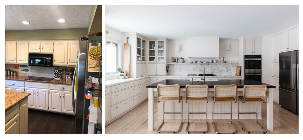 marble shelf kitchen before and after