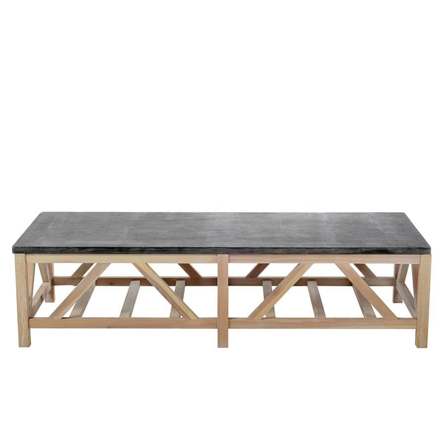 Blue Stone Coffee Table - Amethyst Home