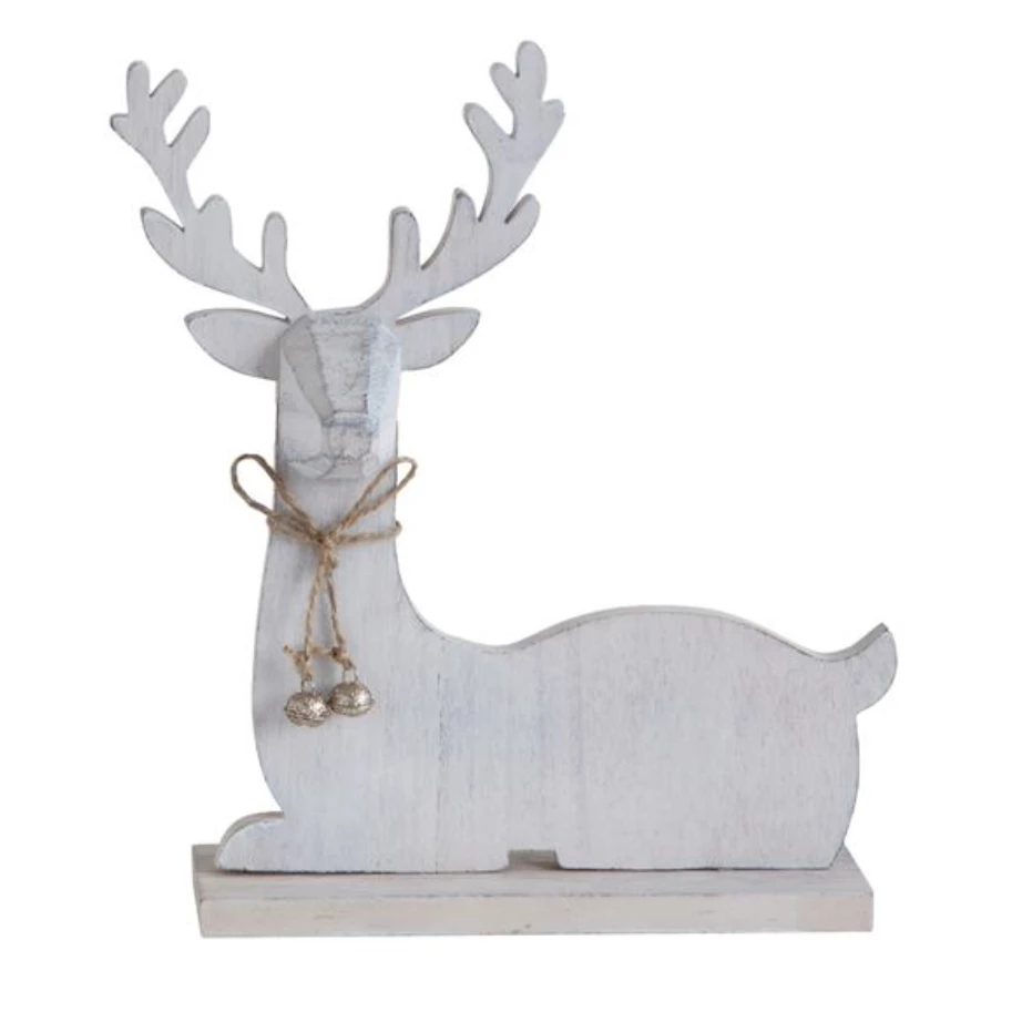 Holiday Deer with Glitter Bells - Amethyst Home