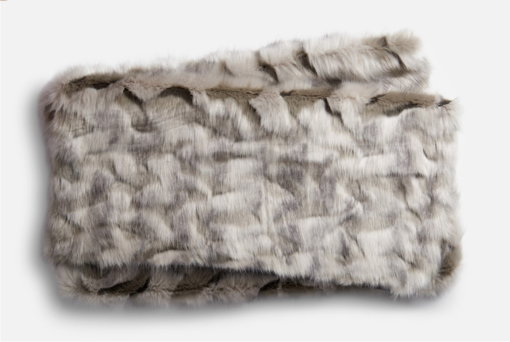 Faux Fur Throw Grey