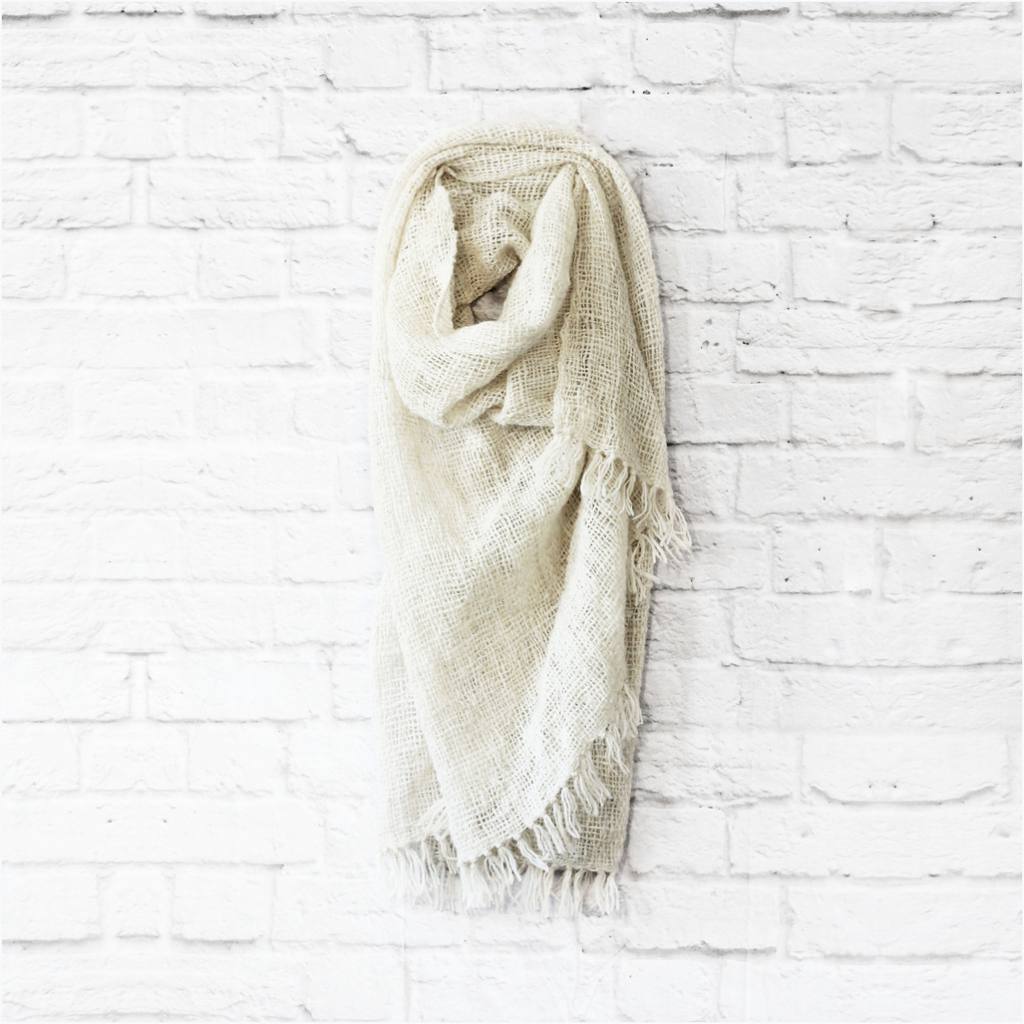 Undyed Natural Throw