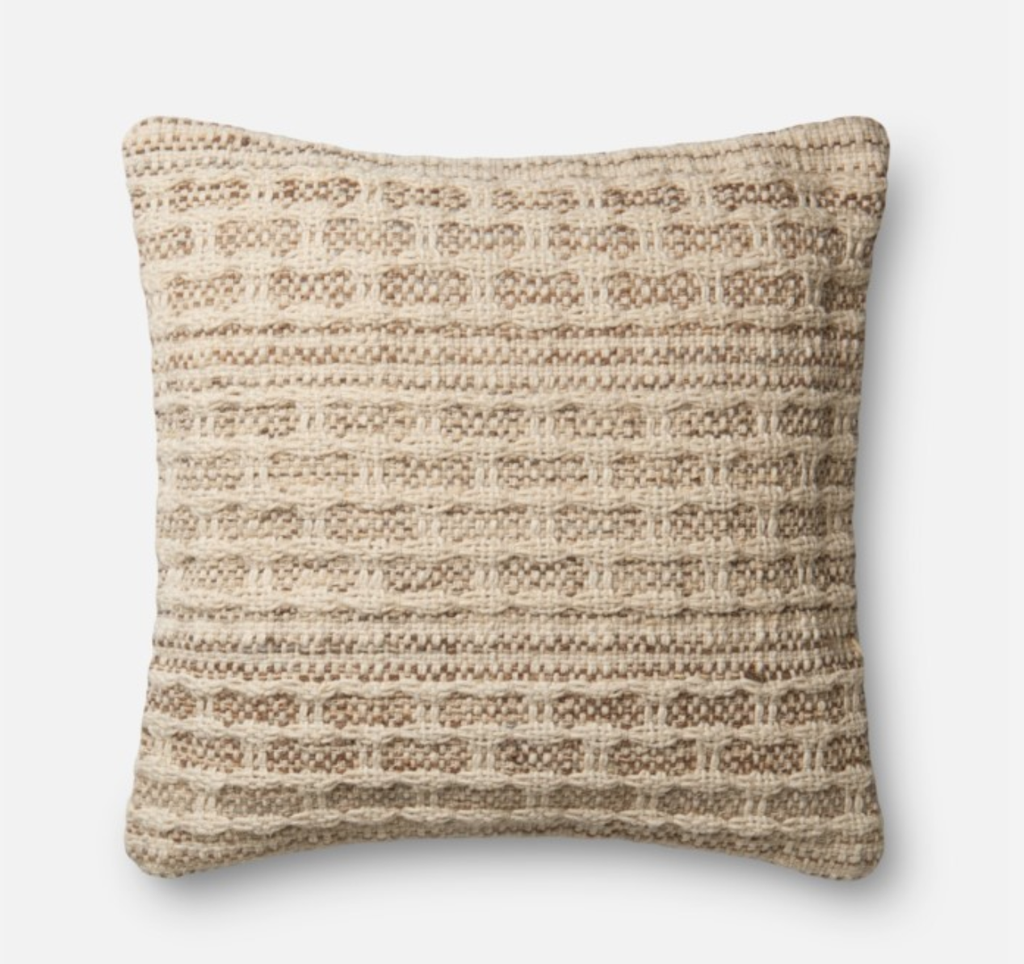 "Taupe Dream Pillow 22""x22"""