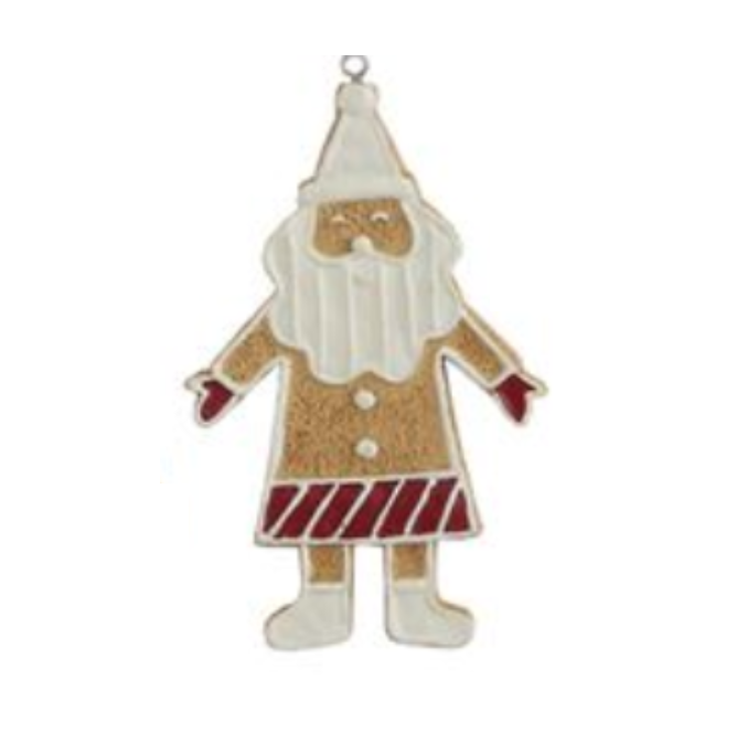 Santa Iced Cookie Ornament