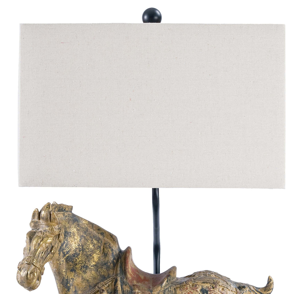 Dynasty Horse Table Lamps Pair - Amethyst Home