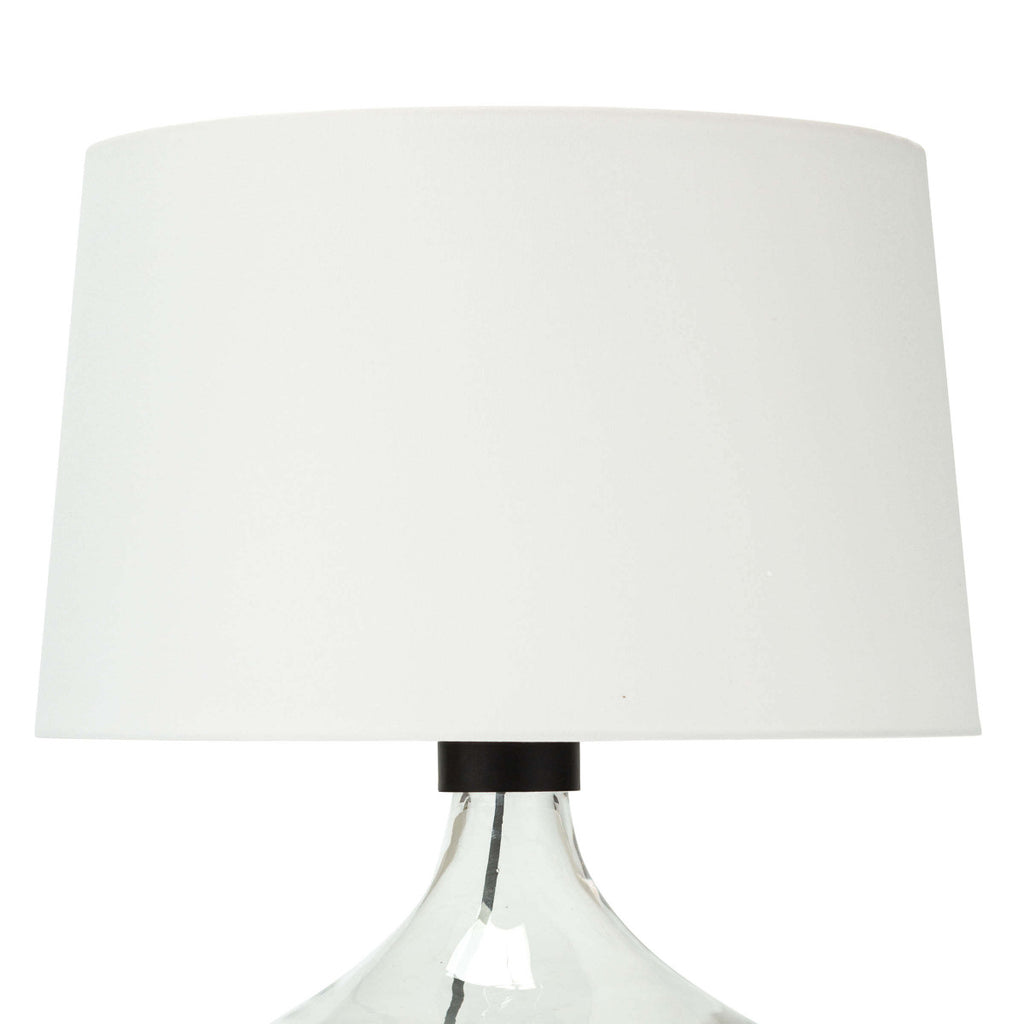 "We love the stunning glass vessel on this Demi John Large Table Lamp. Add this in your living room or bedroom to give the room some refreshing character.   Size: 18""w x 18""d x 26.5""h Material: Glass"
