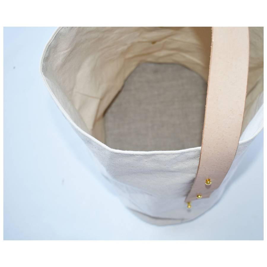 Lora Canvas Basket
