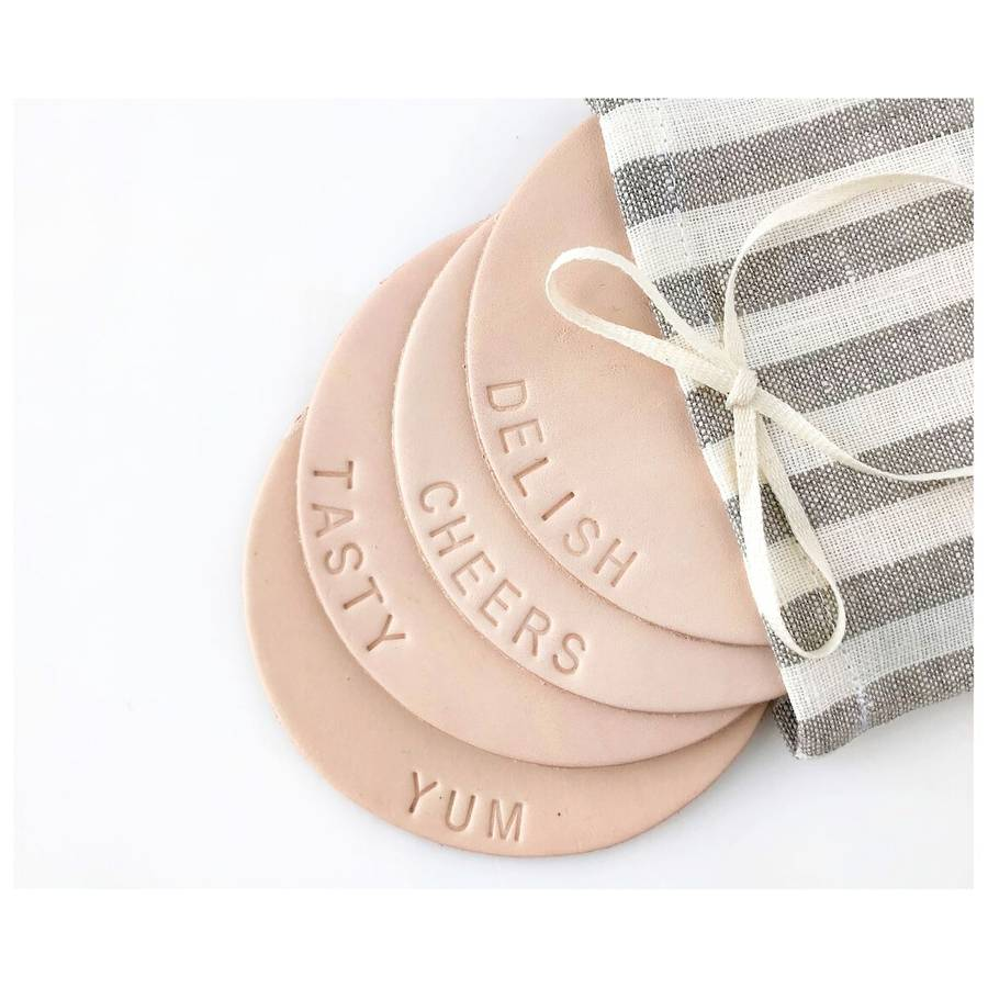 Delish Leather Coasters