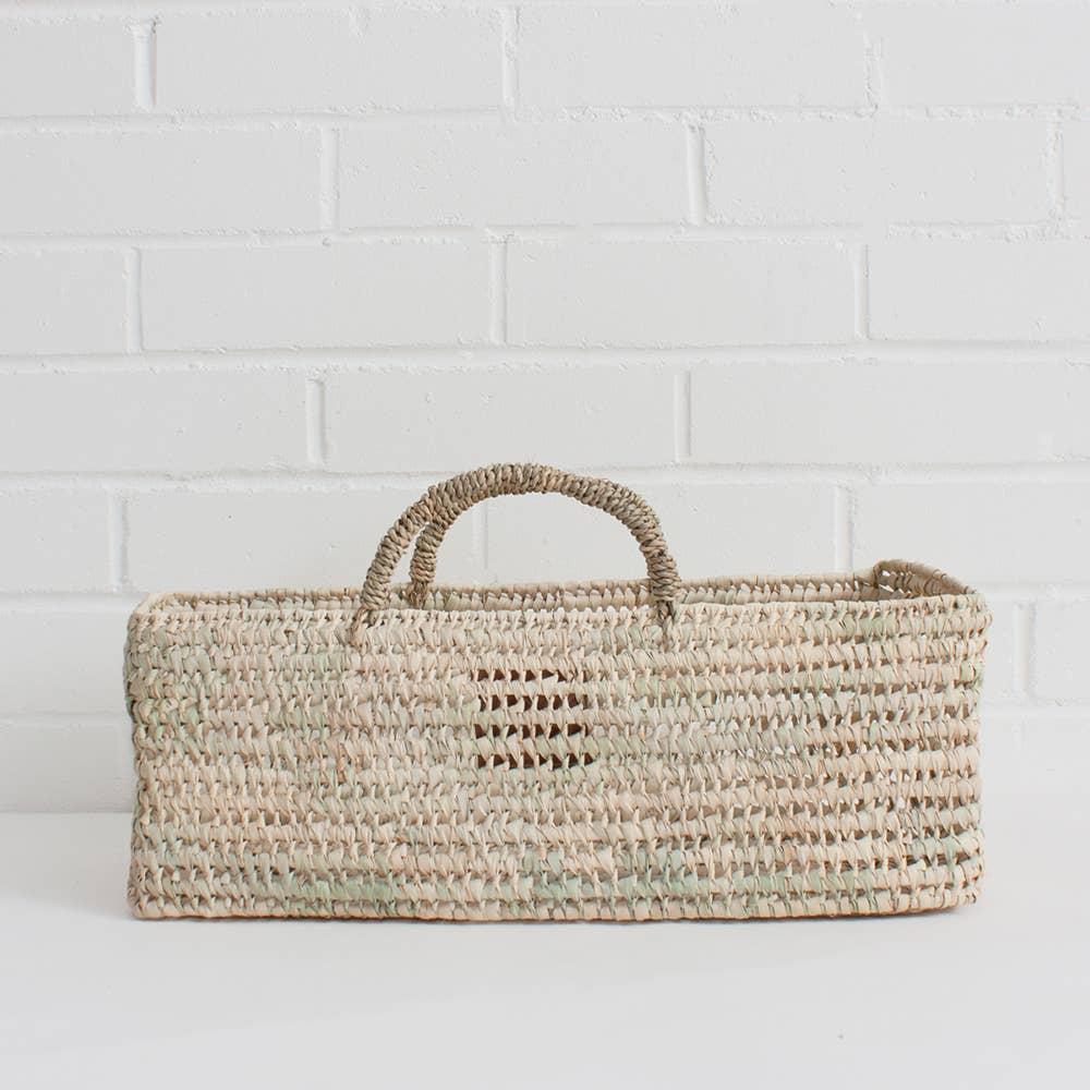 The Large Storage Basket is handwoven in Moroccan in a robust open weave using sustainable palm leaf and can be used as a fruit or bread basket or an ideal home storage solution.