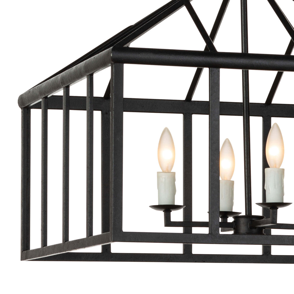 "The Verdant Lantern has an open, black frame and is a perfect statement for a modern farmhouse or lived-in loft aesthetic.   Size: 24""w x 24""d x 26""h Material: Steel"