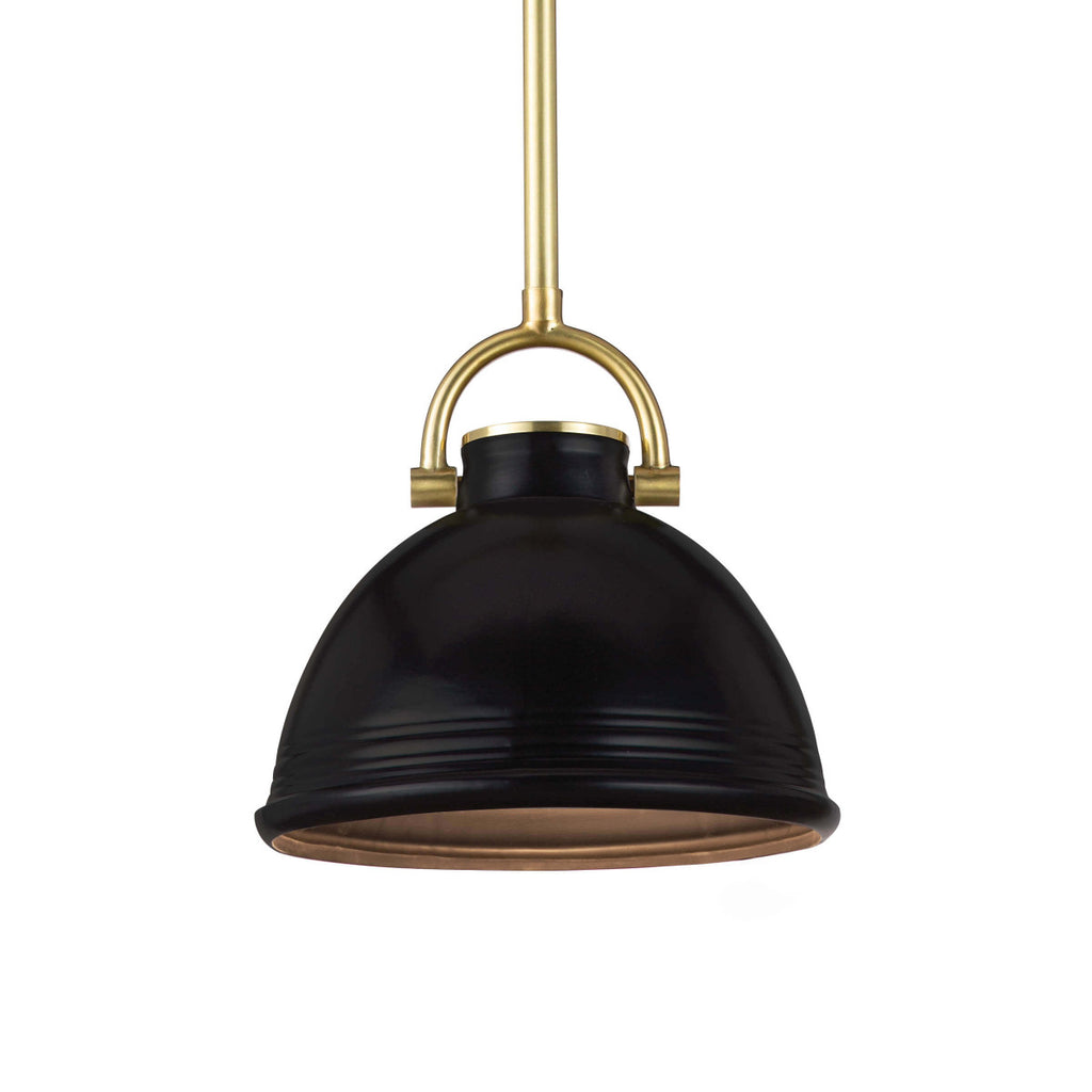 "The classic shape of the Eloise Small Black Ceramic Pendant combines beauty and utility. The perfect lighting for your dream kitchen  Size: 9.5""w x 9.5""d x 21""h Material: Ceramic"