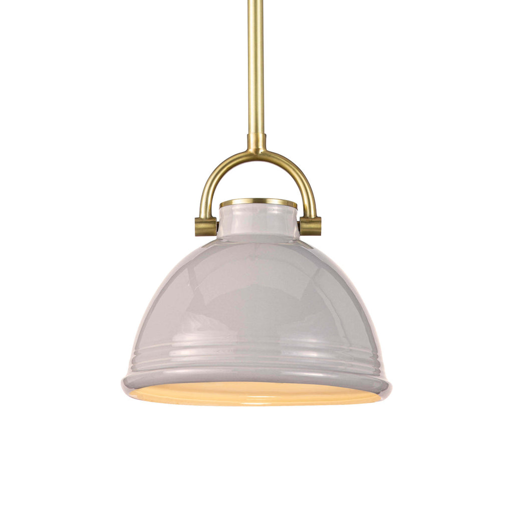 "The classic shape of the Eloise Small Grey Ceramic Pendant combines beauty and utility. The perfect lighting for your dream kitchen  Size: 9.5""w x 9.5""d x 21""h Material: Ceramic"