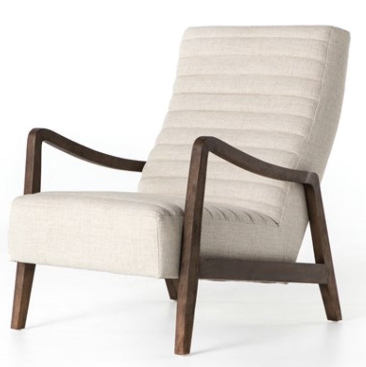 Channeled Linen Chair