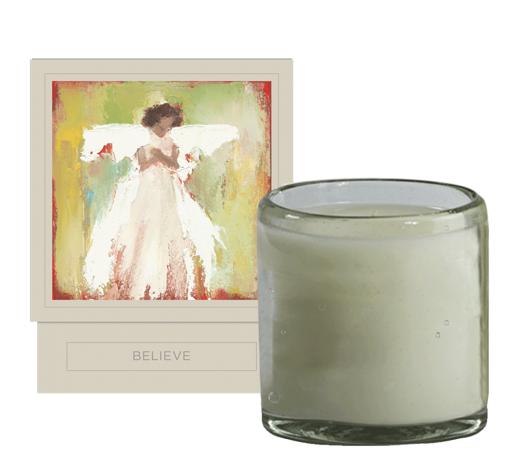 hand poured soy candle, high burn time, eucalyptus, fir, oak moss, vanilla scent Anne Neilson Home Luxury
