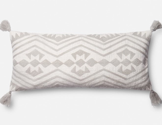 Grey Skies Pillow 12x27