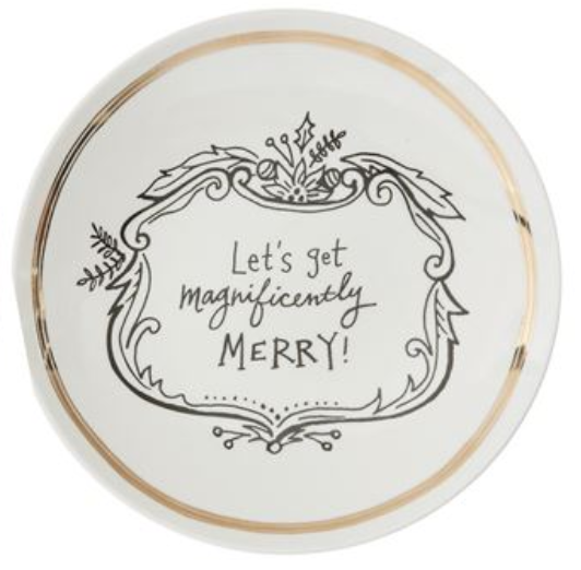 Merry Dessert Plate - Magnificently Merry