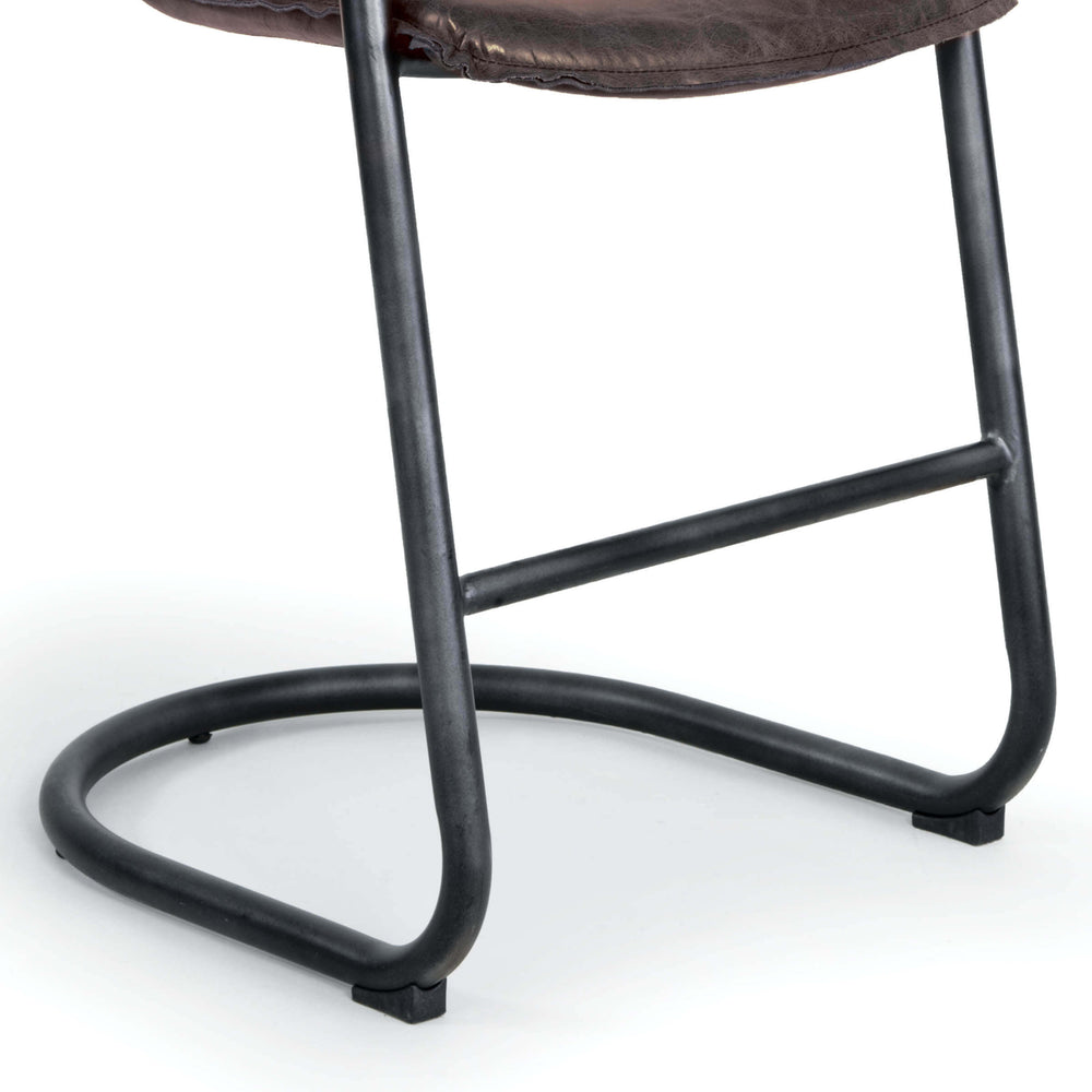 This gorgeous modernist counter stool pairs comfort and style. The low, contoured back and seat cradle the body for maximum comfort. Additional details like the reverse-seamed welting and vintage leather create new standards for a brave, relaxed style.