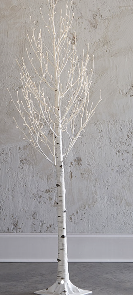 birch tree decor, tree lights, christmas decorations, holiday decor, LED lights, twinkle, indoor, outdoor