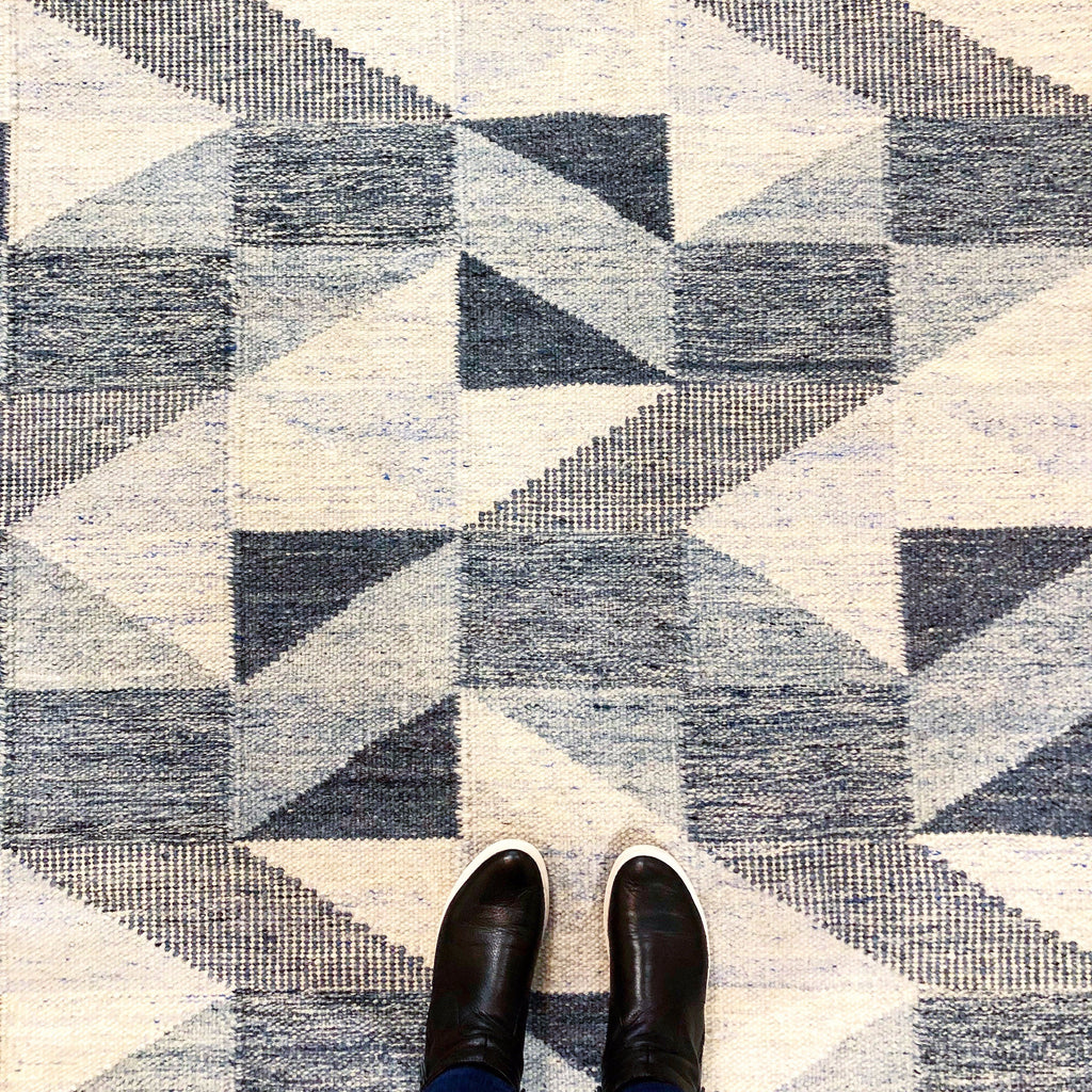 Scandinavian Woven Wool Rug - Floor Sample