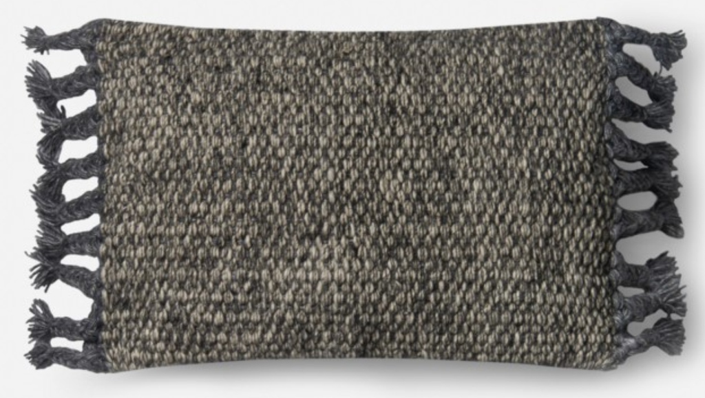Woven Grey Pillow 13x21