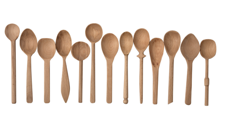 Hand-carved Beech wooden spoon