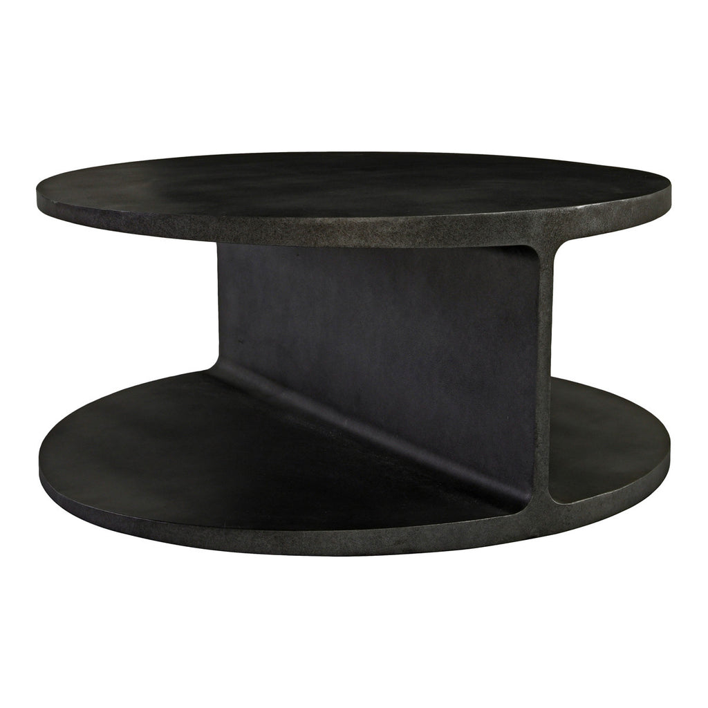 "We love the unique look this Cannon Coffee Table brings to a living room  Size: 38""w x 38""d x 17""h"