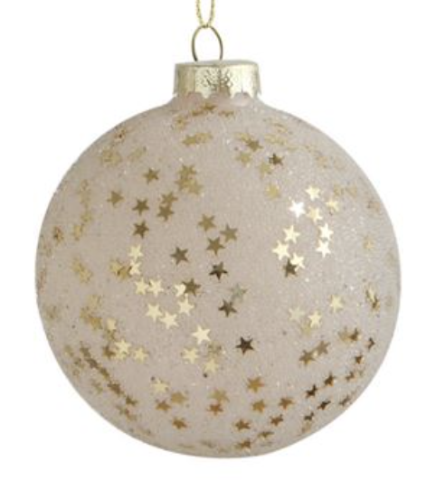 "3"" Gold Star Ornament - Champagne"
