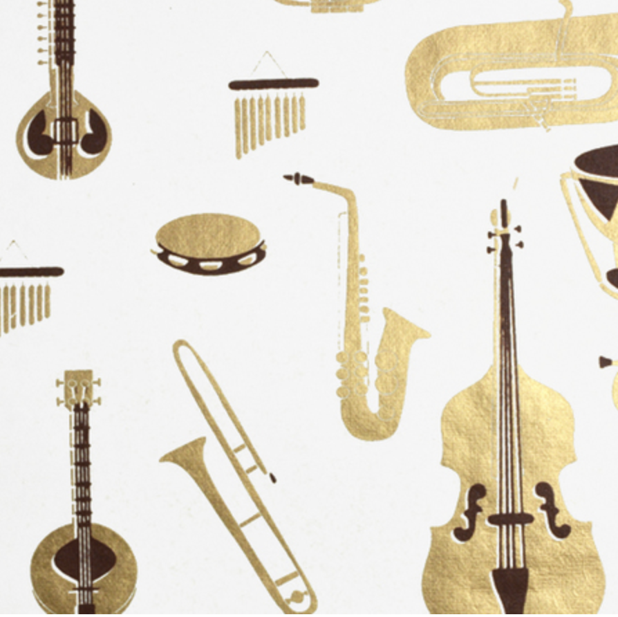 Handmade Instruments Recycled Cotton Gift Wrap
