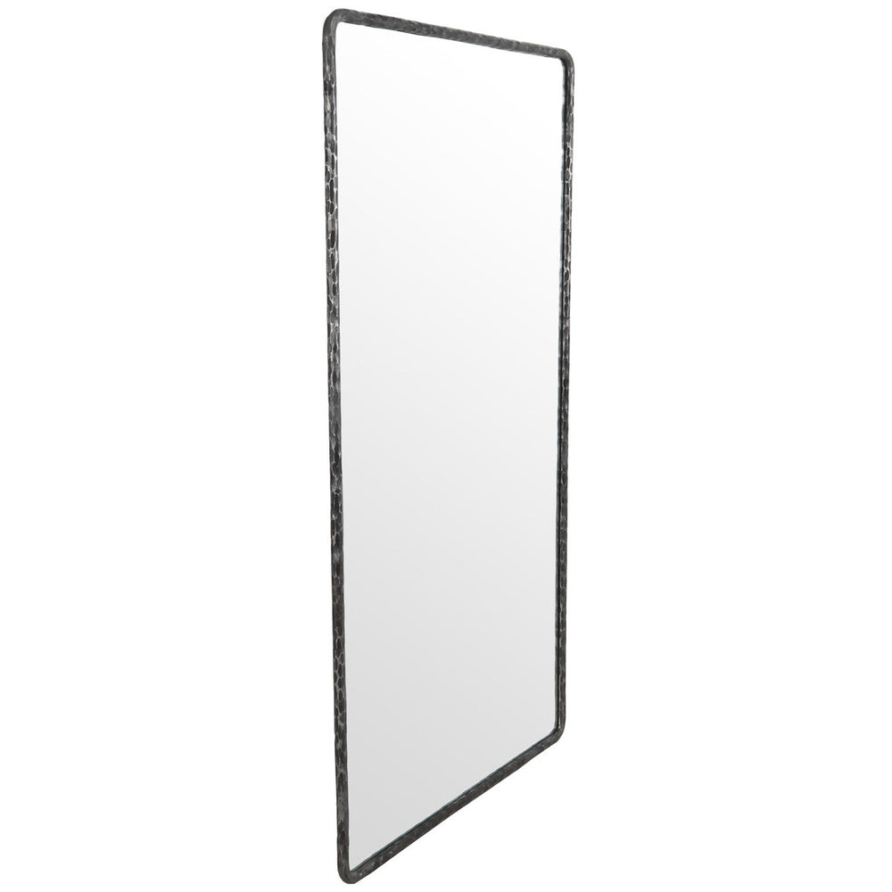 "With its hammered metal frame, this Howell Rectangular Mirror 78"" offers a chic, minimalist look that suits a variety of styles.   Size: 41.5W X 1.2D X 78H Materials: Reclaimed Elm, Hammered Metal / Mirror"