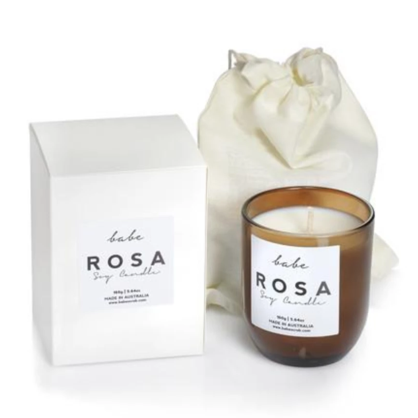 """Rosa"" Luxury Soy Coconut Candle - Amethyst Home"