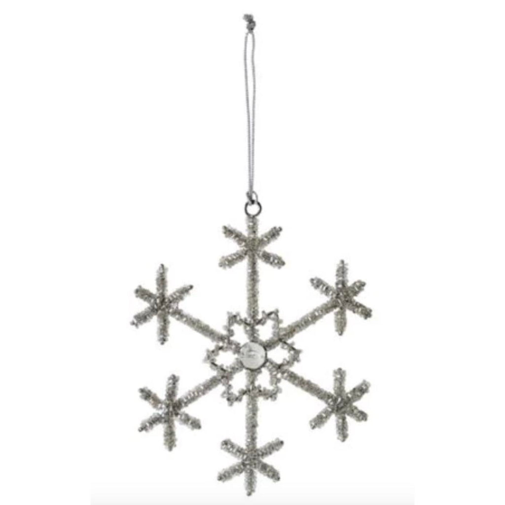 "6"" Beaded Snowflake Ornament - Style 1"