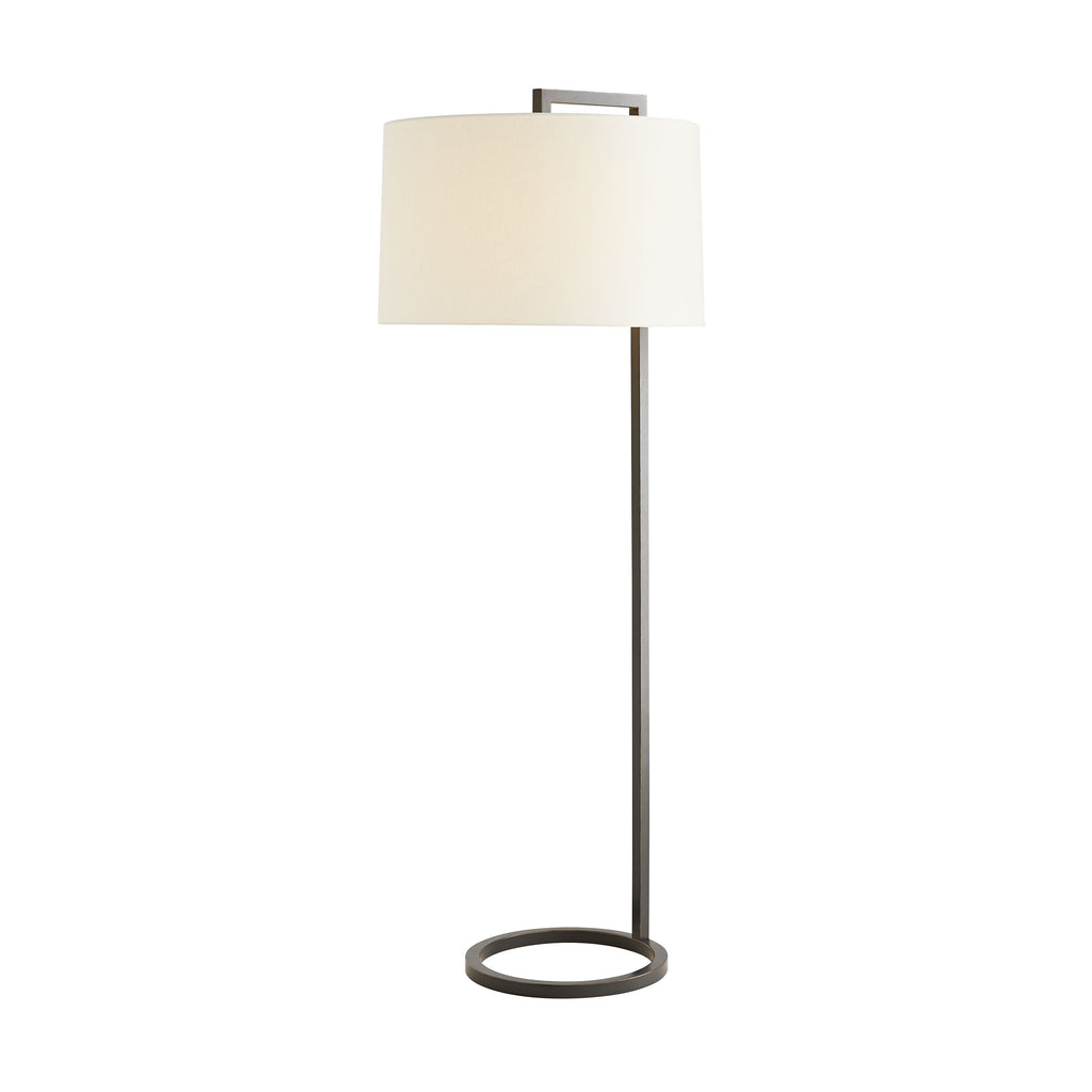 "The slender steel frame of this Belden Floor Lamp bring a simple, sophisticated look to any bedroom or living room.   Size: 24""d x 64""h Material: Steel"