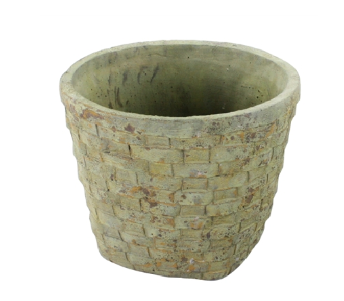 Cement Basket Pot - Large