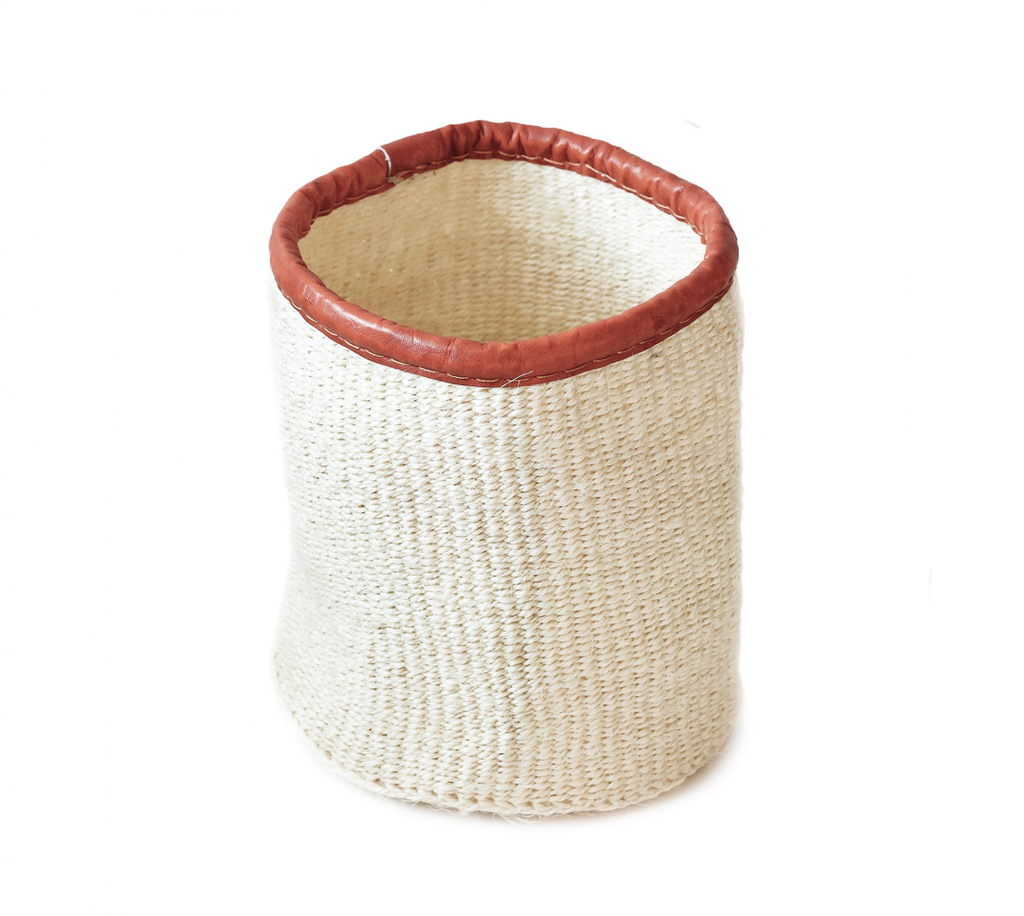 Organizer | 8'' Natural White Sisal Basket
